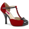 PINUP - 02 Red Micro-Suede/Black Patent